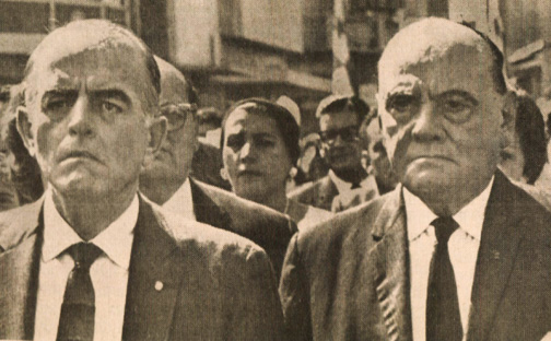 Panamanian President Chiari (L) and vice-President Gonzalez (R) in 1964 - Enough was enough.