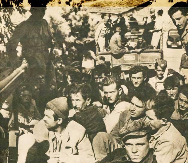 IIn Greece - Rounding up the rebels.