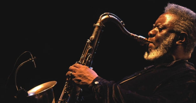 """Pharoah Sanders - once described by Ornette Coleman as """"Probably the best tenor sax player in the world""""."""