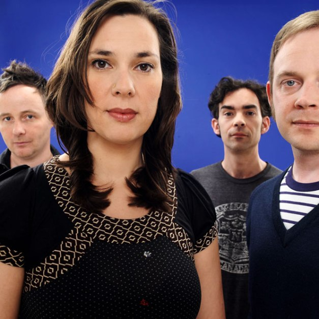 Stereolab with the late Mary Hansen -  a warm and ethereal air to their music.