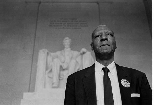 A. Philip Randolph. The de facto Master of ceremonies, but a vital force in the Civil Rights movement.