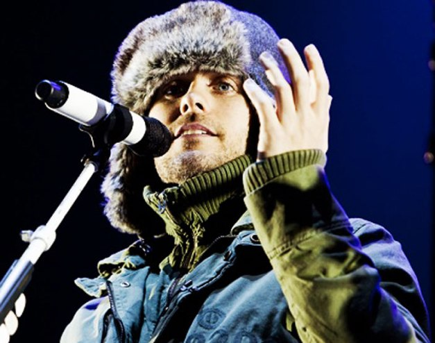 Jared Leto of 30 Seconds To Mars - A wondrous hybrid of emo, screamo and Space.