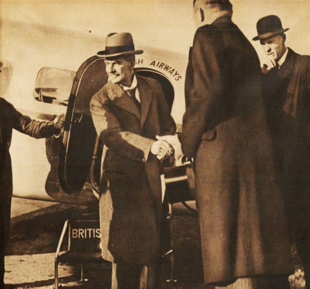 Prime Minister Neville Chamberlain - trying out that new thing called Shuttle Diplomacy.