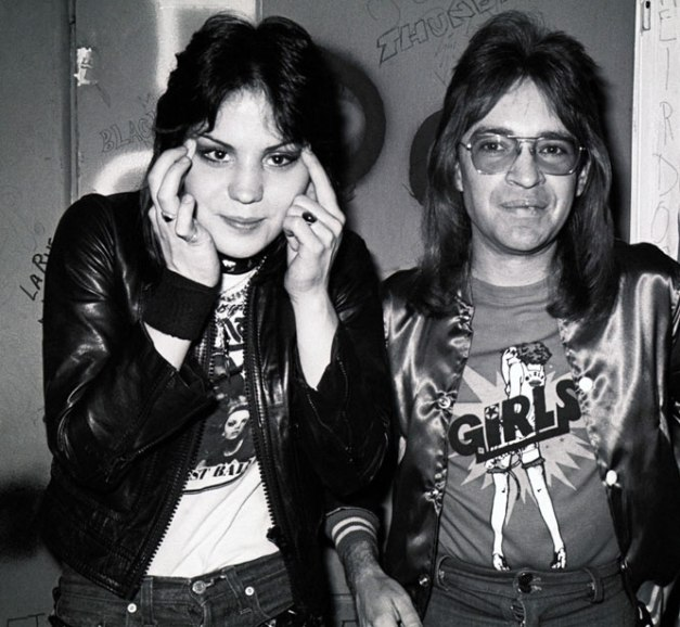 Rodney with Joan Jett - the quintessential fan's fan.